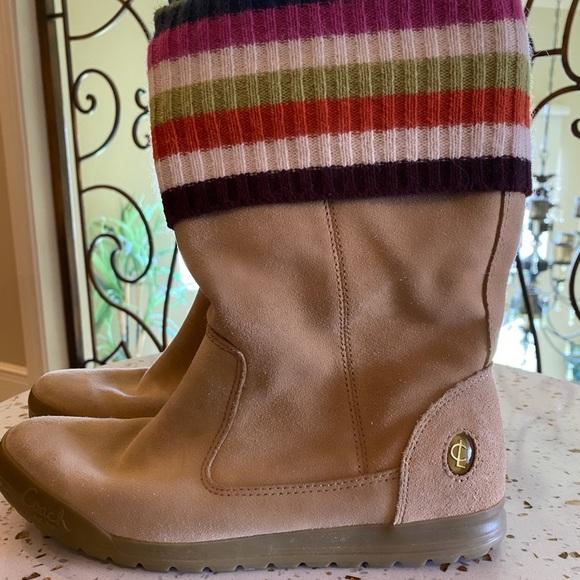 Size 6.5 Coach Tatum Beige Suede Boots
